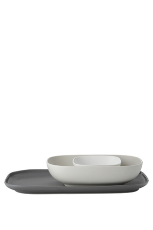 Maxwell & Williams - Elemental Rectangle Platter And 2 Bowl Set Gift Boxed