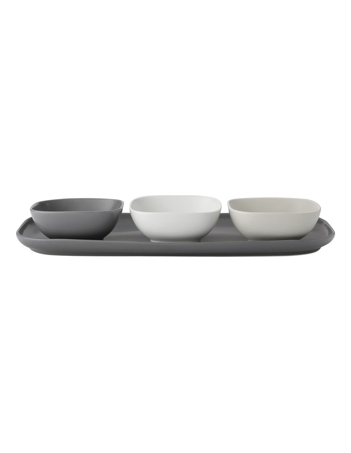 Elemental Rectangle Platter And 3 Square Bowl Set Gift Boxed image 1