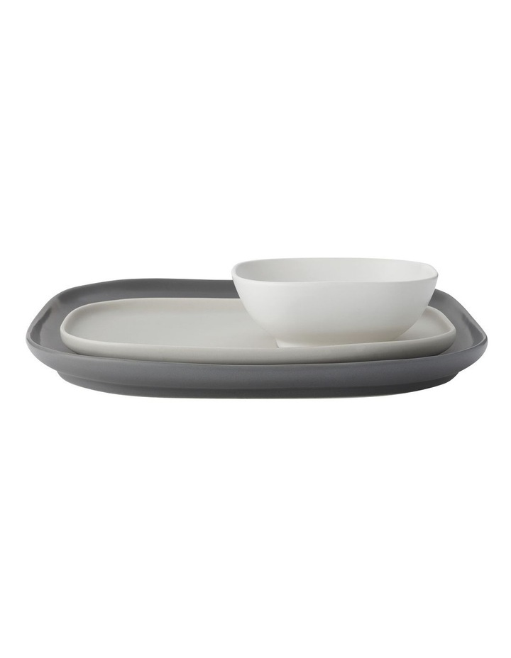 Elemental Square Platter And Bowl with Rectangular Platter Set Gift Boxed image 1