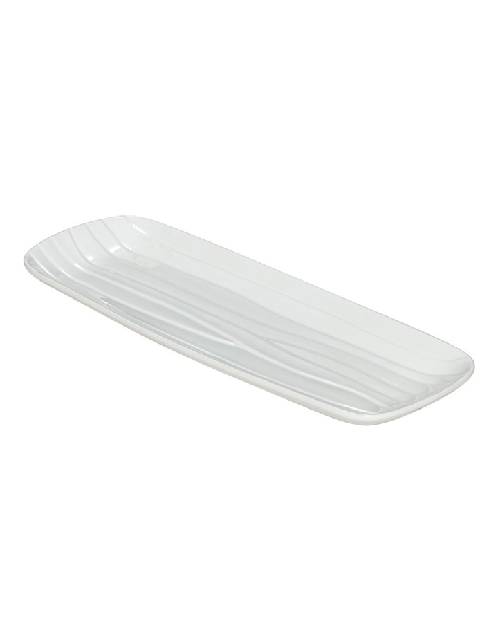 Groove Rectangle Platter White Medium 40x15cm image 1