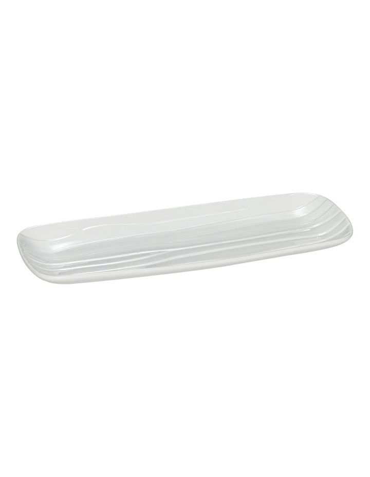Groove Rectangle Platter White Medium 40x15cm image 2