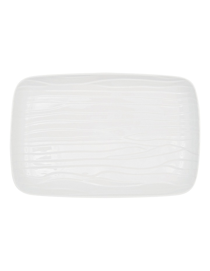 Groove Large Rectangle Platter  45x30cm - White image 2