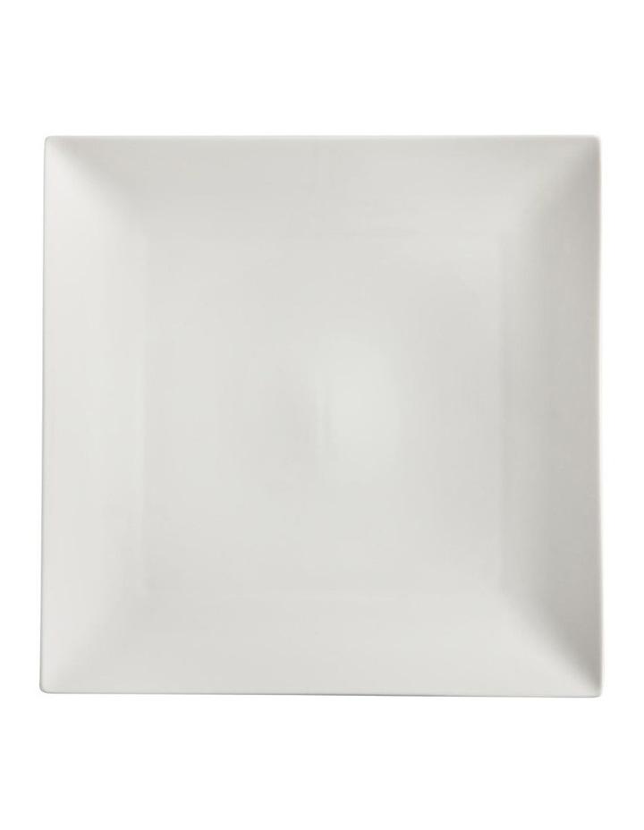 White Basics Linear Square Platter 30cm Gift Boxed image 1