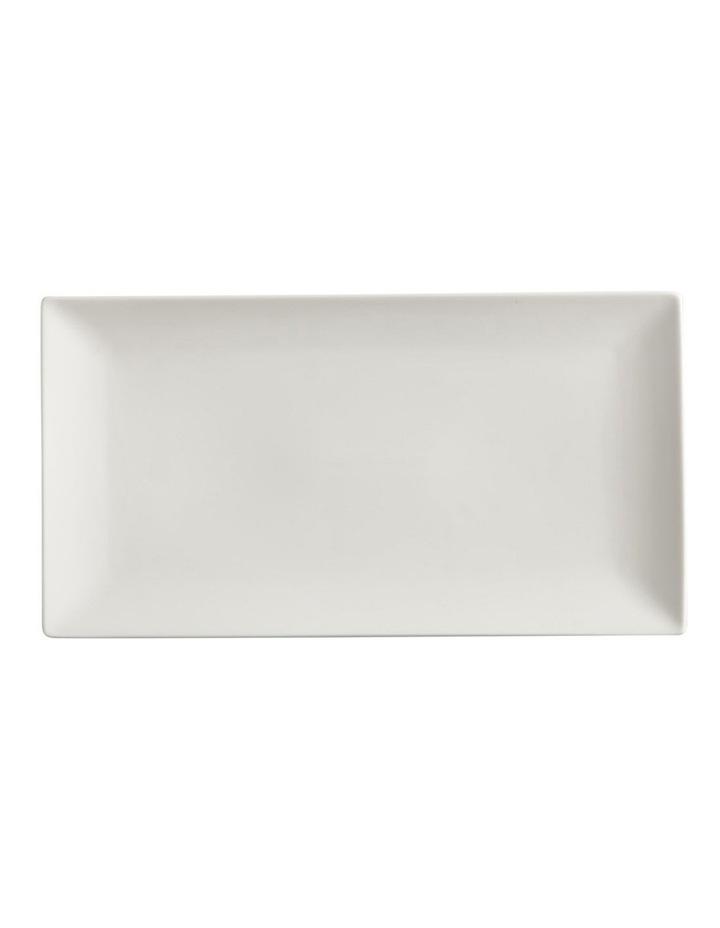 White Basics Linear Rectangular Platter 35x19cm Gift Boxed image 1