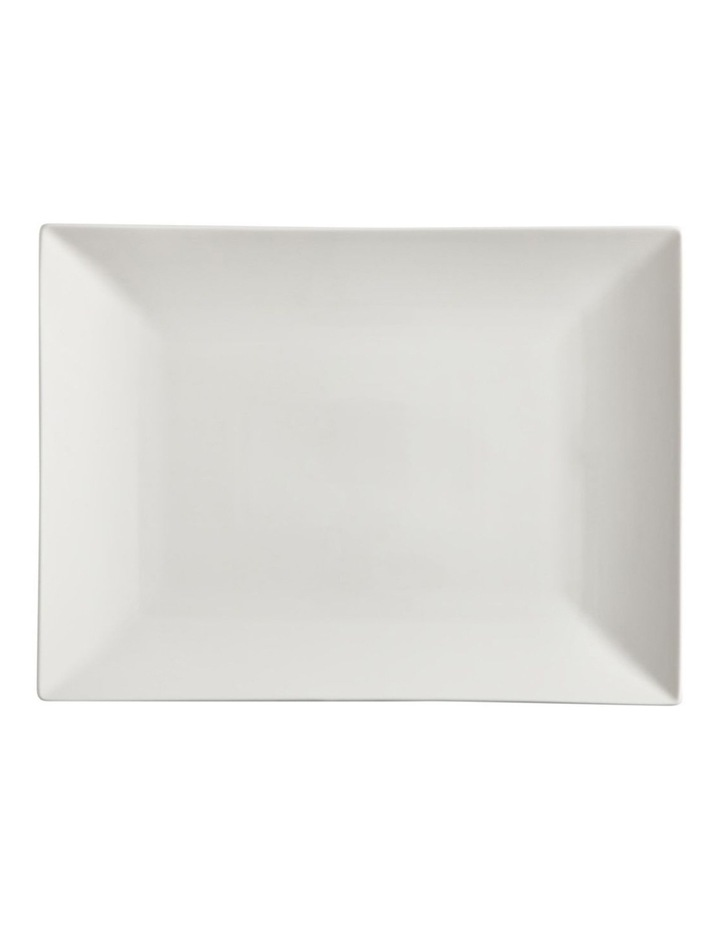 White Basics Linear Rectangular Platter 36x25cm Gift Boxed image 1