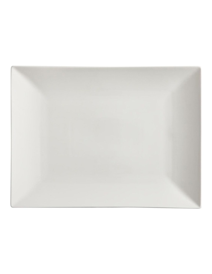 White Basics Linear Rectangular Platter 40x30cm Gift Boxed image 1