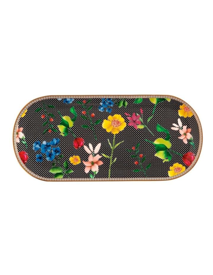 Teas & C's Contessa Oblong Platter 33x15cm Black Gift Boxed image 1