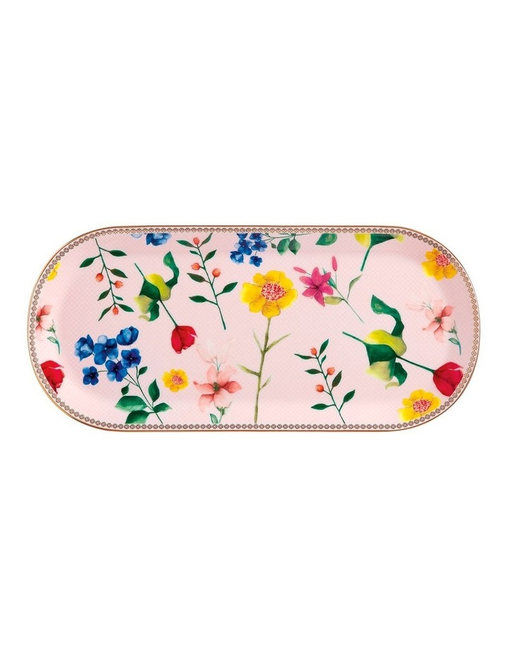 Teas & C's Contessa Oblong Platter 33x15cm Rose Gift Boxed image 1