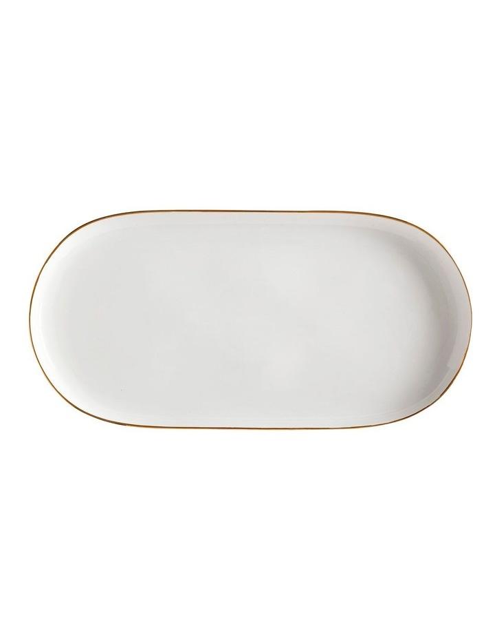 Oro Oblong Platter 30x15cm White Gift Boxed image 1
