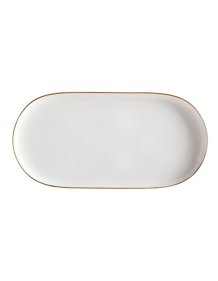 Oro Oblong Platter 39x20cm White Gift Boxed image 1