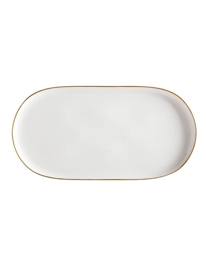 Oro Oblong Platter 45x24cm White Gift Boxed image 1