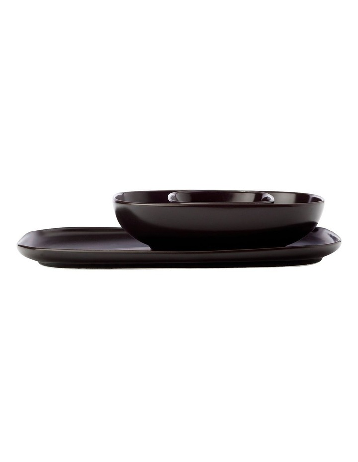 Forma Rectangle Platter And 2 Bowl Set Black Gift Boxed image 1