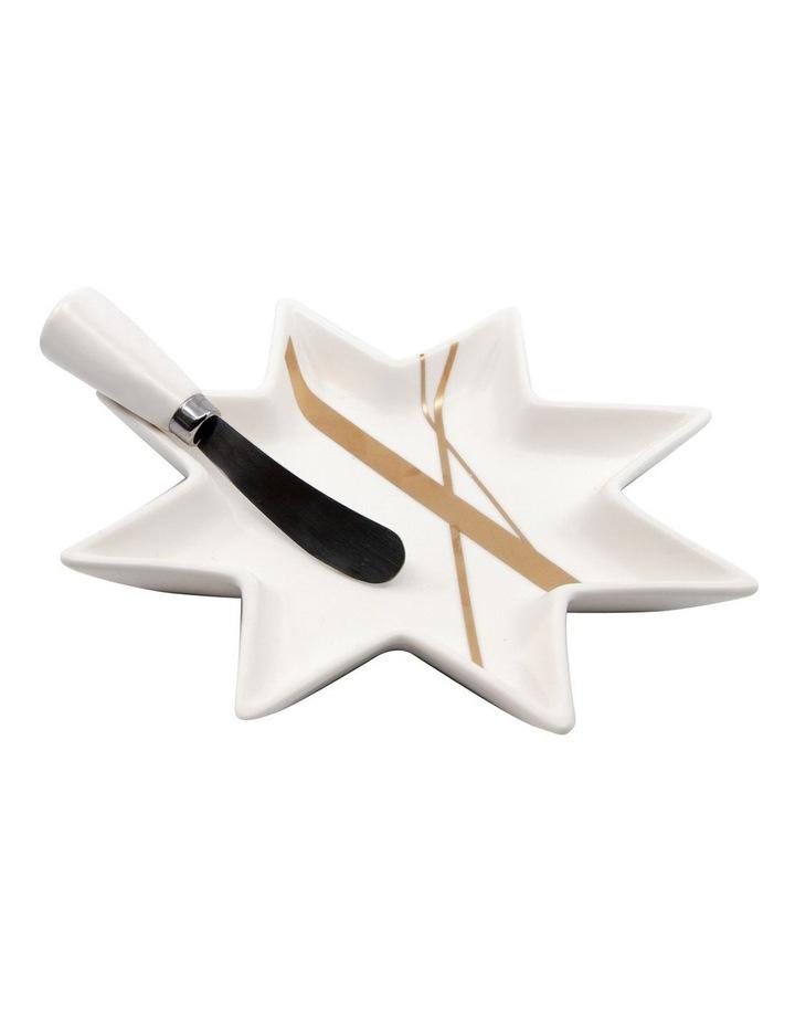 Bliss Star Platter & Pate Knife Set 19cm image 1