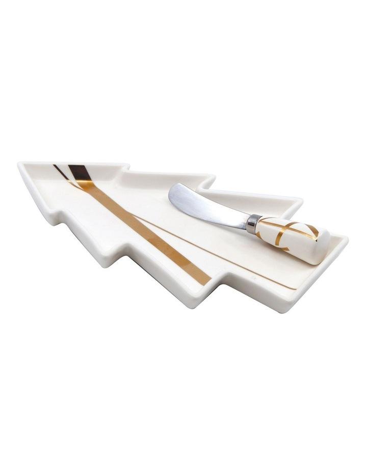 Bliss Tree Platter & Pate Knife Set 25cm image 1