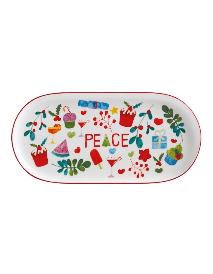 Joy Love Peace Oblong Platter 30x15cm Gift Boxed image 1