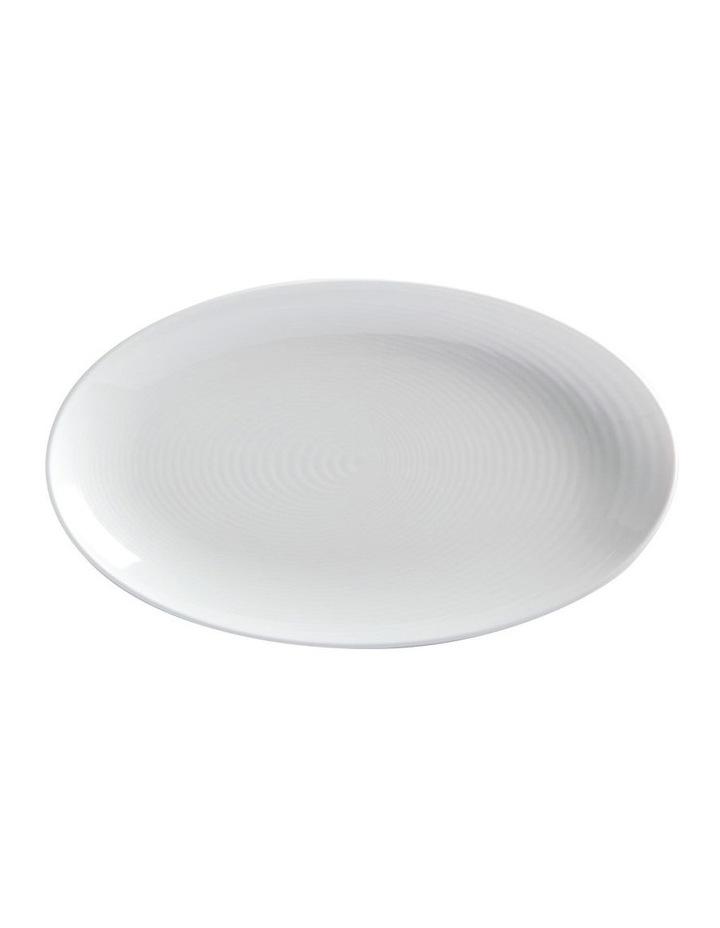 Swirl Oval Platter 32x19cm White Gift Boxed image 1