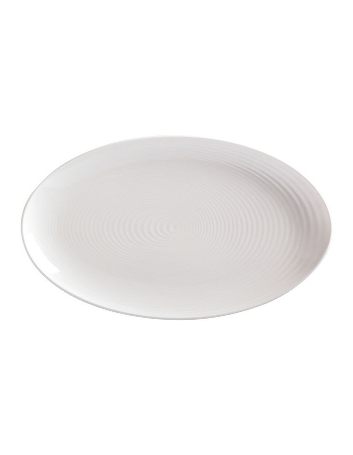 Swirl Oval Platter 42x25cm White Gift Boxed image 1