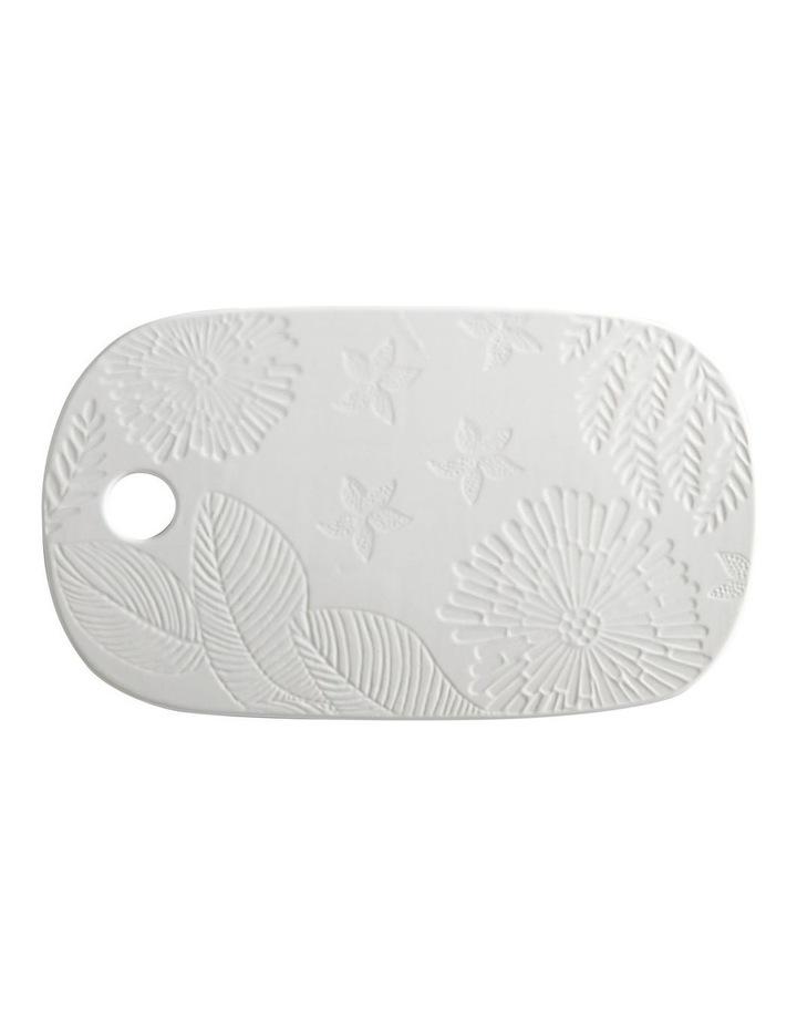 Panama Cheese Platter 40x23cm White Gift Boxed image 1