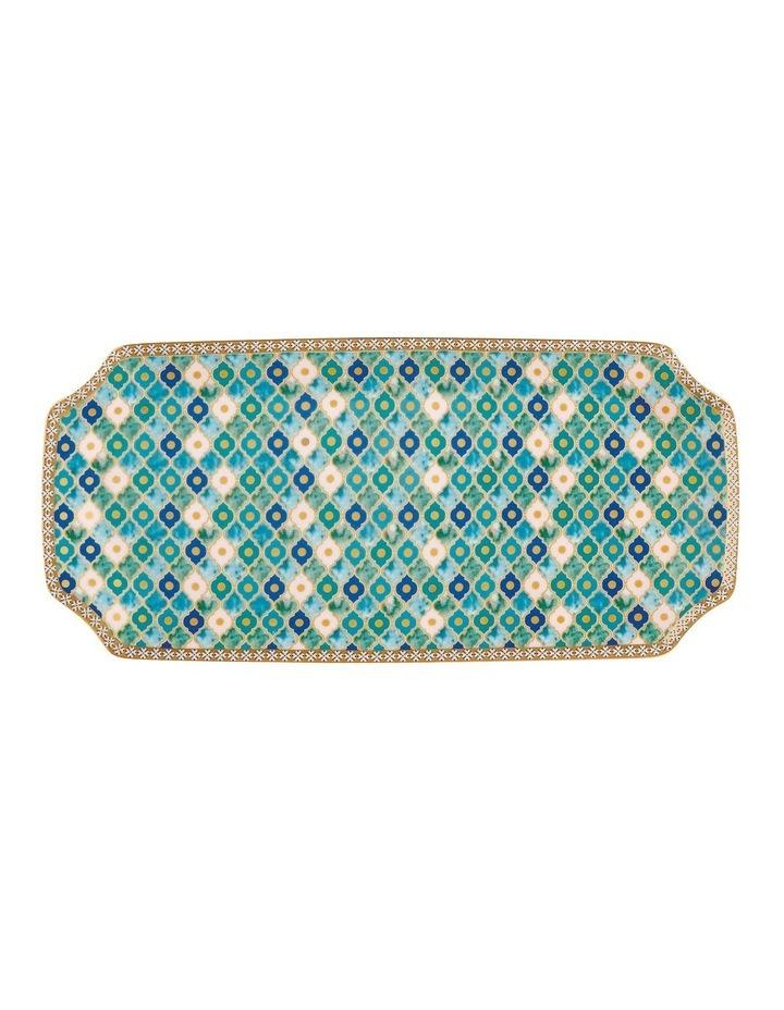 Teas & C's Kasbah Rectangle Platter 25x11.5cm Mint Gift Boxed image 1