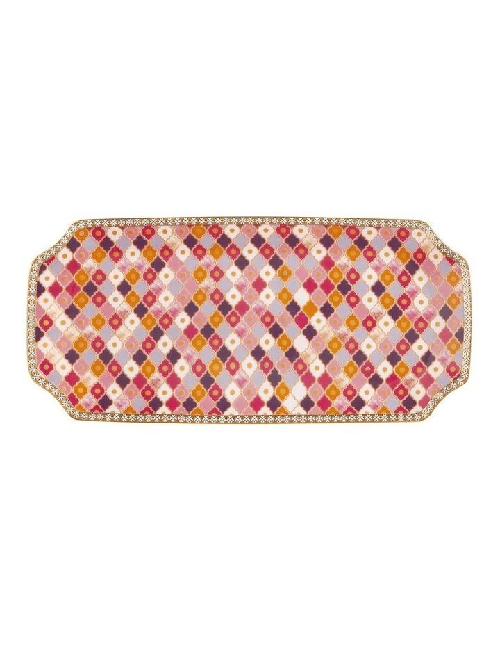 Teas & C's Kasbah Rectangle Platter 25x11.5cm Rose Gift Boxed image 1