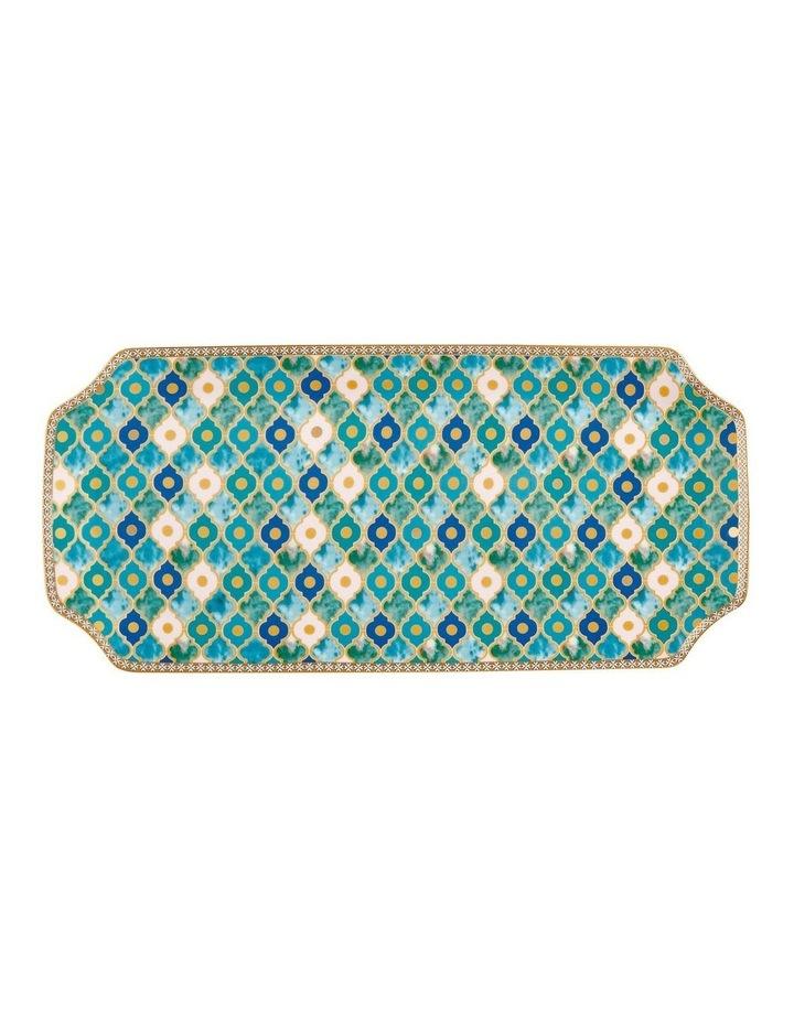 Teas & C's Kasbah Rectangle Platter 33x15.5cm Mint Gift Boxed image 1