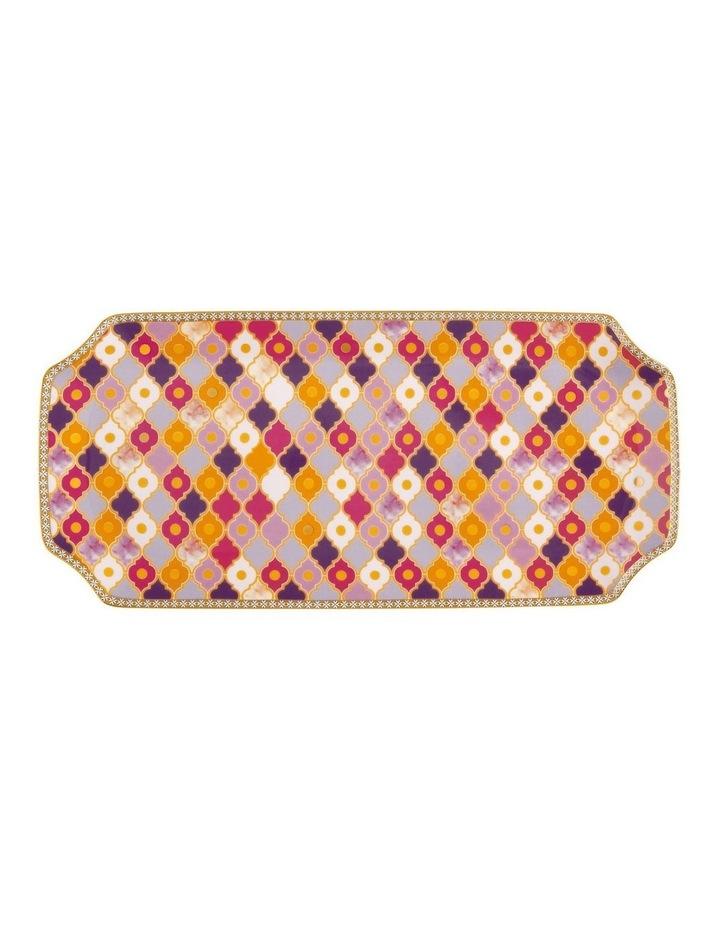 Teas & C's Kasbah Rectangle Platter 33x15.5cm Rose Gift Boxed image 1
