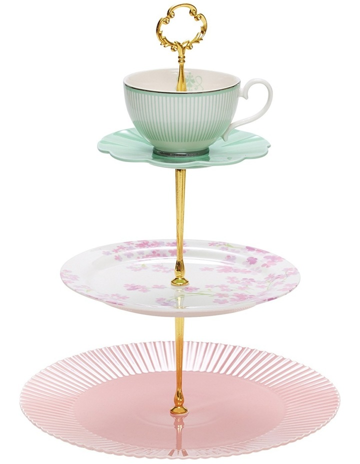 Eclectic Cake Stand - 3 Tier image 2