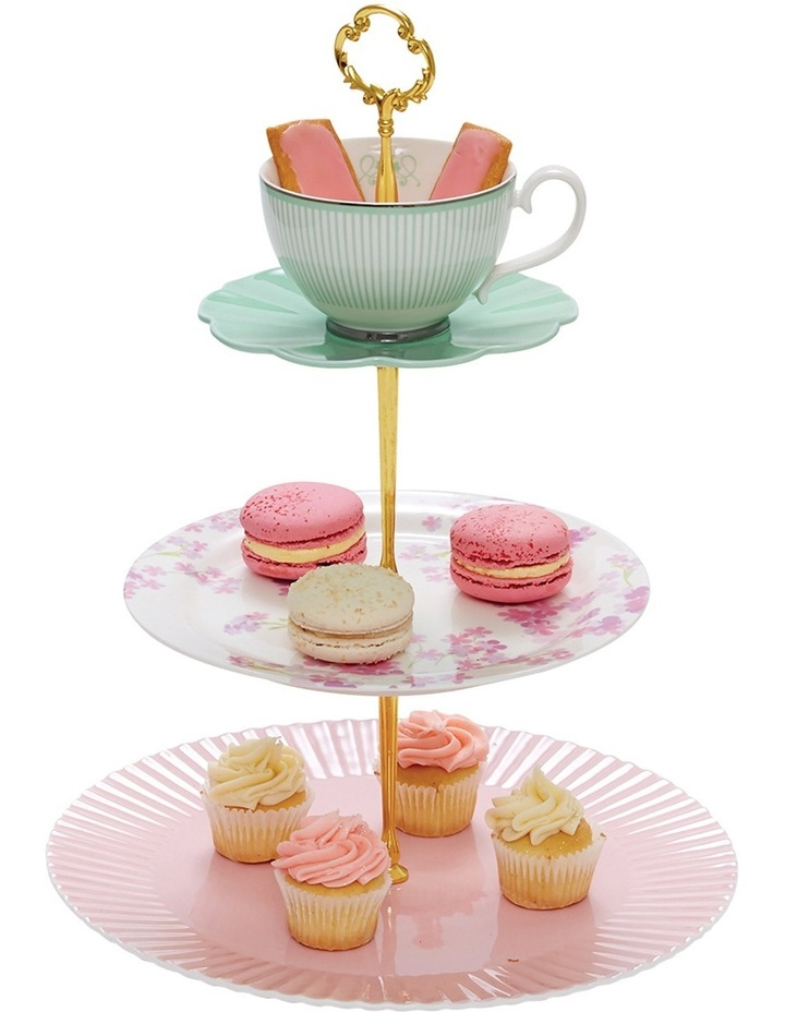 Eclectic Cake Stand - 3 Tier image 4