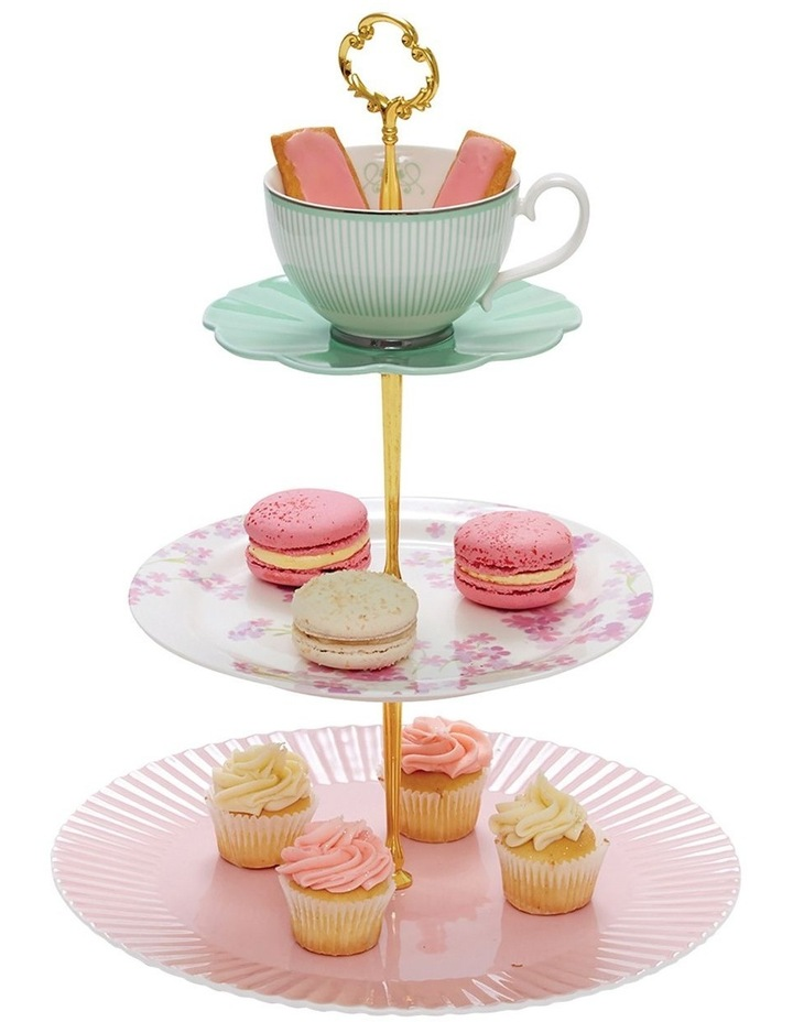Eclectic Cake Stand - 3 Tier image 3
