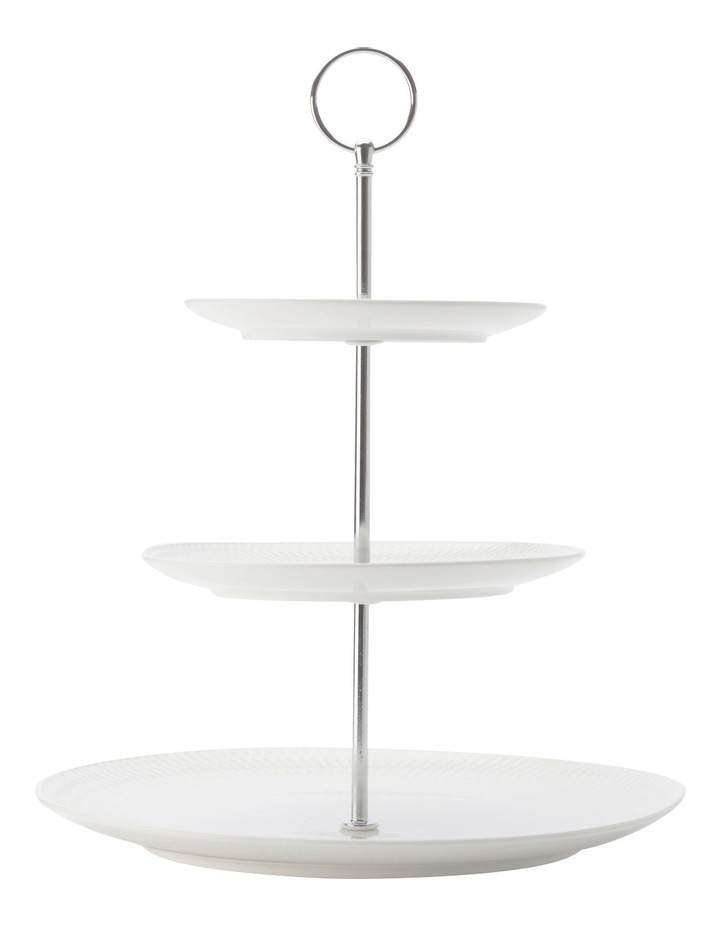 White Basics Diamonds 3-Tier Cake Stand Gift Boxed image 1