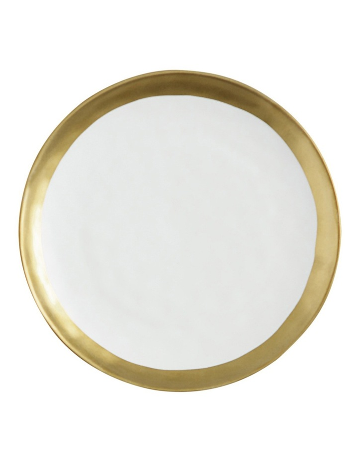 Swank Round Plate  Gift Boxed  16cm - White & Gold image 1