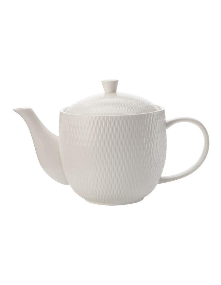 White Basics Diamonds Teapot Gift Boxed 800ml image 1