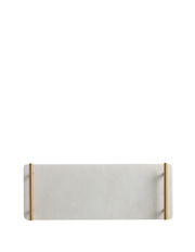 Maxwell & Williams - Mezze Marble Tray  Gift Boxed  40x15cm - Gold Handle