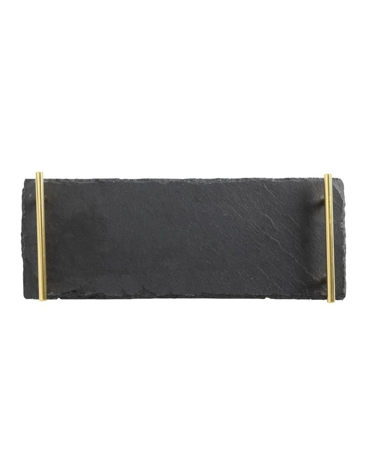 Mezze Slate Tray 40x15cm Gold Handle Gift Boxed image 1