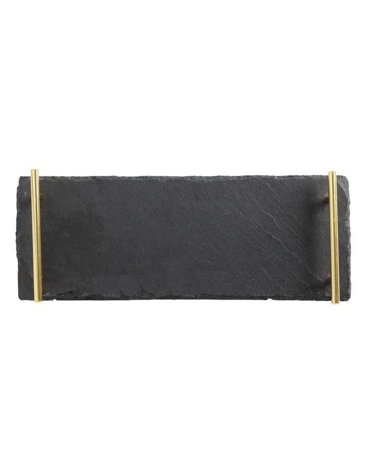 Mezze Slate Tray 40x15cm Gold Handle Gift Boxed image 1