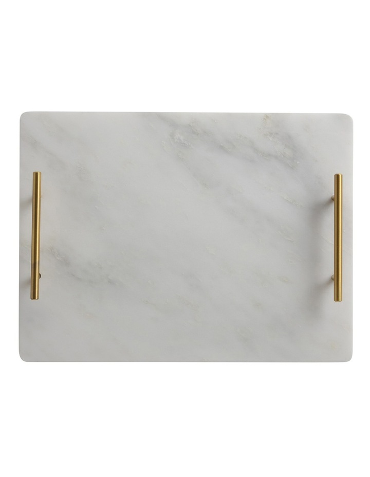 Mezze Marble Tray with Gold Handle  Gift Boxed  40x30cm image 1