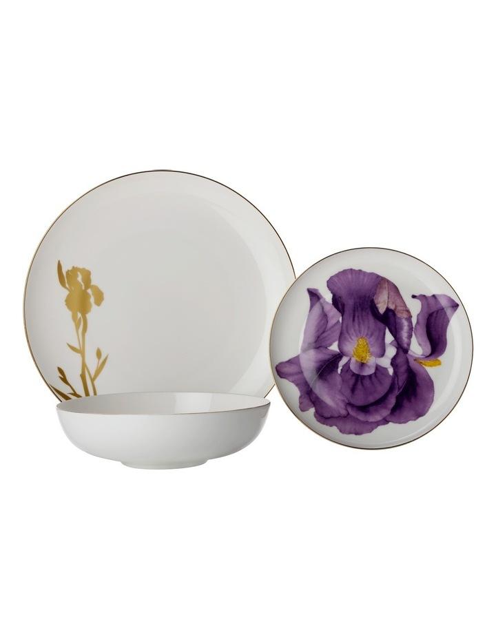 Royal Botanic Garden Botanica Floris Place Setting 3pc Iris Purple Gift Boxed image 1