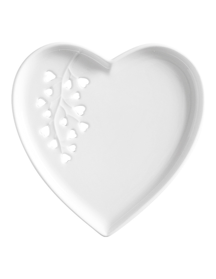 Seed & Leaf Heart Plate 13cm Gift Boxed image 1