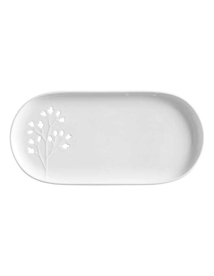 Seed & Leaf Oblong Plate 30x15cm Gift Boxed image 1