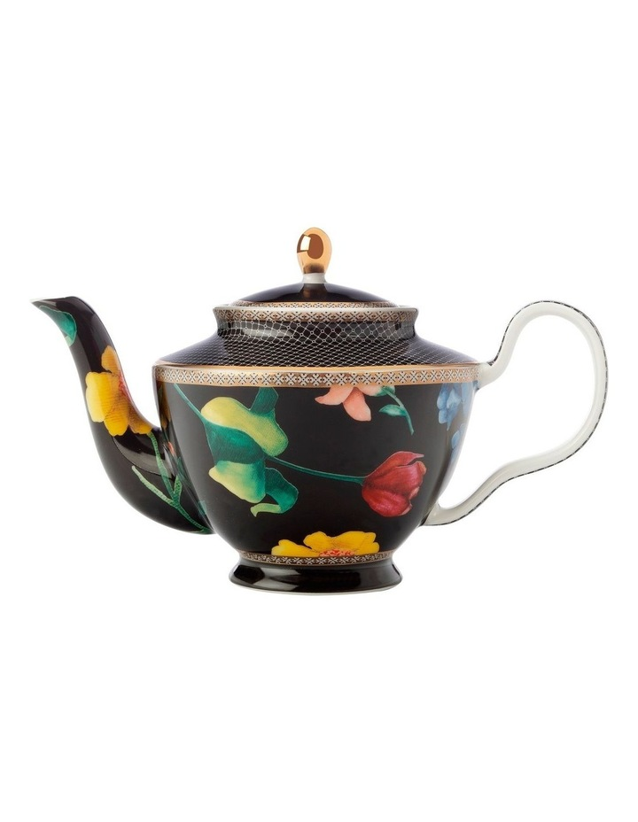 Teas & C's Contessa Teapot with Infuser 500ML Black Gift Boxed image 1