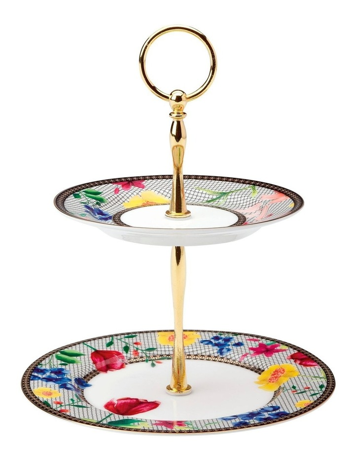 Teas & C's Contessa 2 Tiered Cake Stand White Gift Boxed image 1