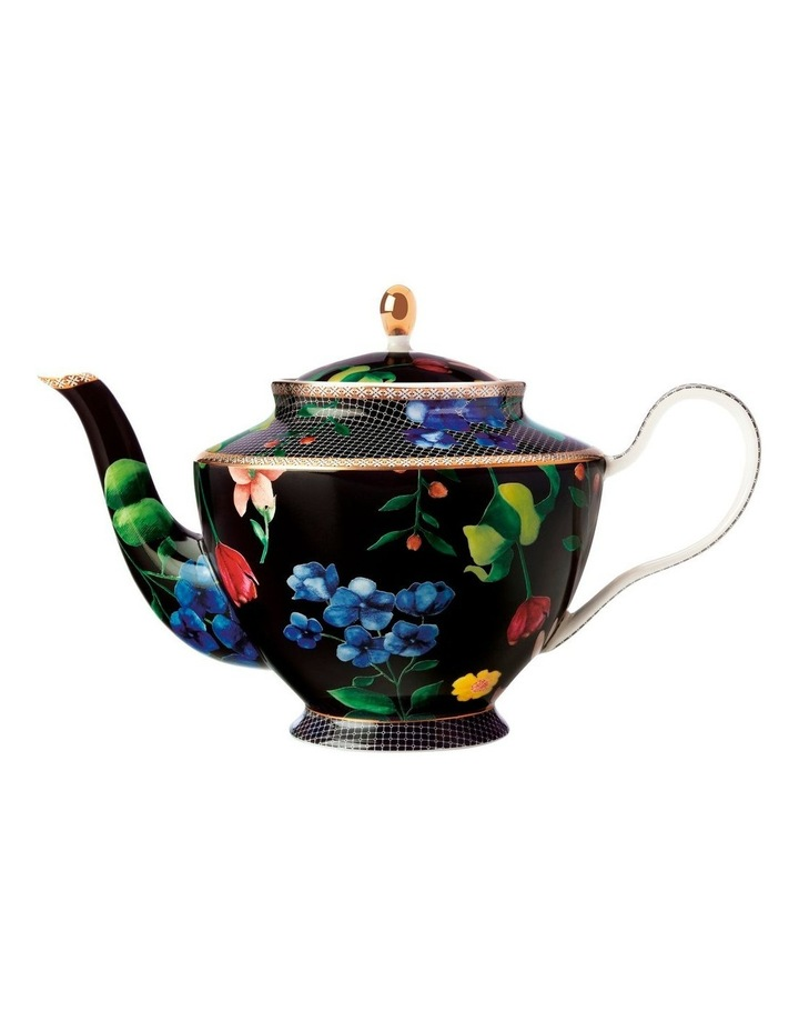Teas & C's Contessa Teapot with Infuser 1L Black Gift Boxed image 1