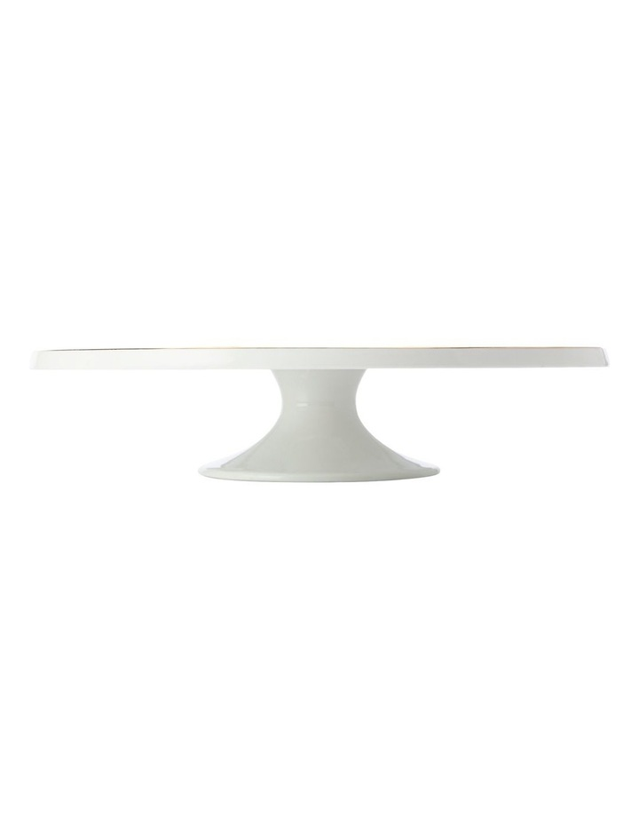 Oro Footed Cake Stand 30cm White Gift Boxed image 1