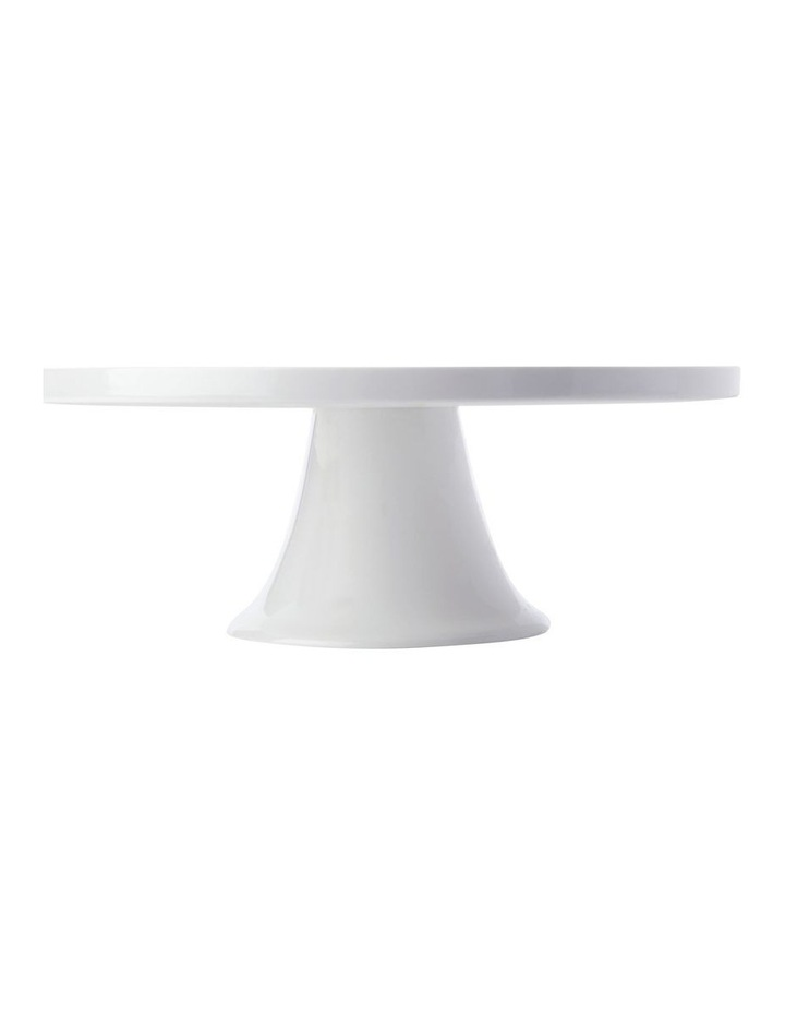 White Basics Footed Cake Stand 30cm Gift Boxed image 1