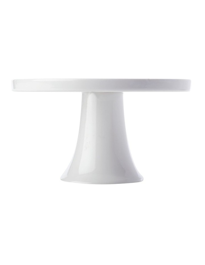 White Basics Footed Cake Stand 20cm Gift Boxed image 1
