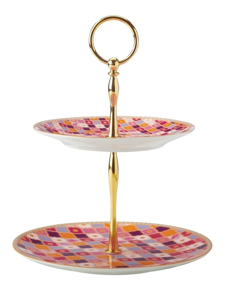 Teas & C's Kasbah 2 Tiered Cake Stand Rose Gift Boxed image 1