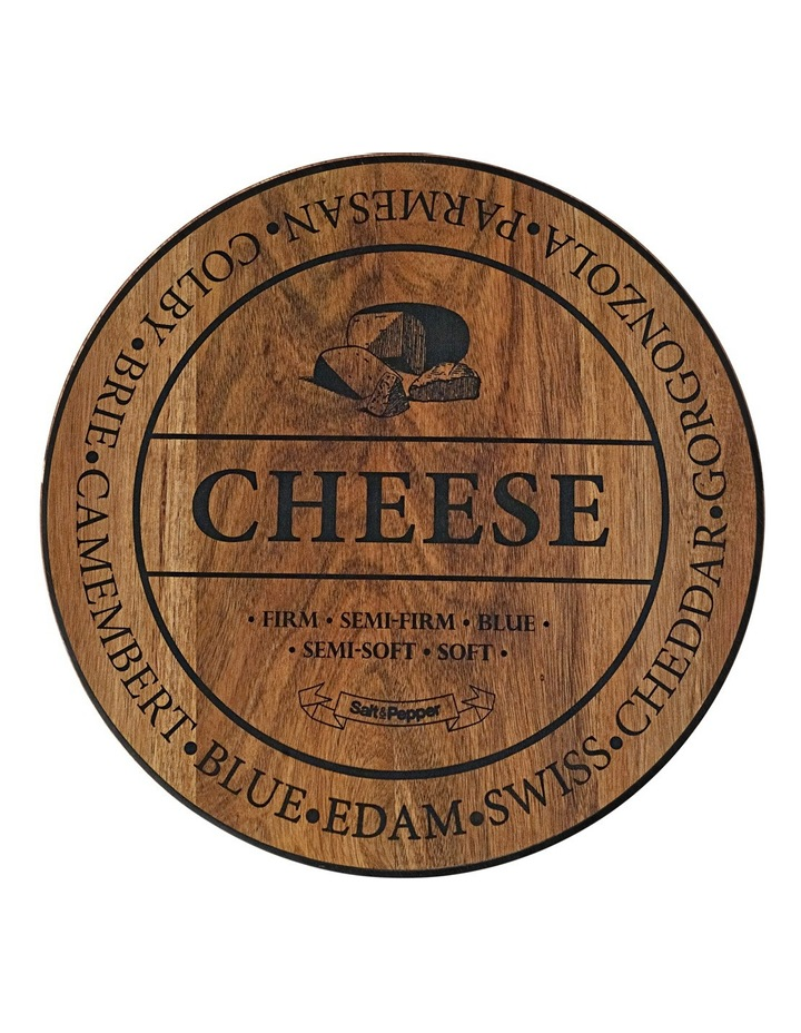 Round Wooden 'Cheese' Board 40cm image 1