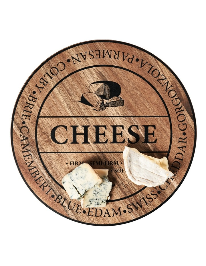 Round Wooden 'Cheese' Board 40cm image 2