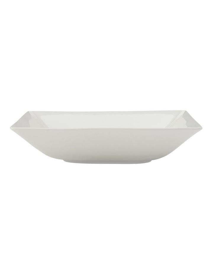 White Basics Linear Square Shallow Bowl 20cm image 1