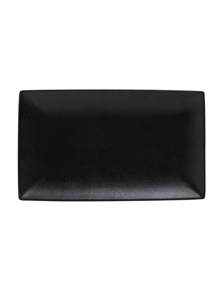 Caviar Rectangle Platter  34.5x19.5cm - Black image 1